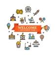 Amusement Park Embleme vector image vector image