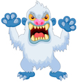 Angry cartoon yeti vector image vector image