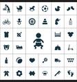 baby kids icons universal set vector image