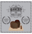 background with bread for a bakery vector image