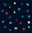 background with web icons in flat style vector image
