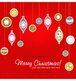Beautiful design Christmas greeting card with xmas vector image vector image