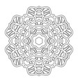 black and white silhouette of a snowflake lace vector image vector image