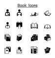 book icon set graphic design vector image vector image