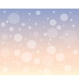Christmas snowfall at dawn vector image