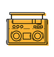 color radio object technology to listen music vector image