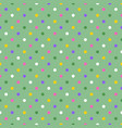 colorful spring polka dots on pastel green pattern vector image vector image