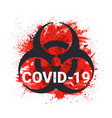 covid19-19 biohazard sign 2019-ncov corona virus vector image vector image