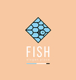 Creative logo pattern in the form of fish scales i vector image vector image