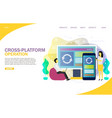 cross-platform operation landing page website vector image