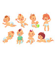 cute baby happy cartoon babies smiling and vector image vector image