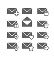 Different mailing web icons isolated on white vector image