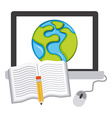 e-learning concept vector image vector image