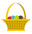 easter basket icon isolated vector image