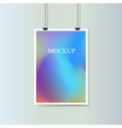 Empty vertical poster with fluid colorful vector image vector image