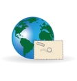 Envelope and globe vector image