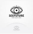 eye logo design template vector image