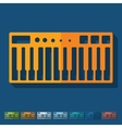 Flat design synthesizer vector image vector image