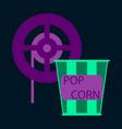 flat icon popcorn cinema vector image vector image