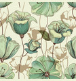 floral seamless pattern lily design vector image vector image