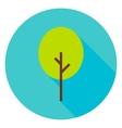 Garden Green Tree Circle Icon vector image vector image