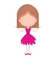 girly fairy without face and wings and light brown vector image vector image