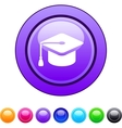 Graduation circle button vector image