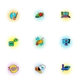 Hacking icons set pop-art style vector image vector image