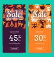 halloween sale banner templates with vector image vector image