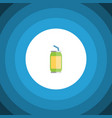 isolated beverage flat icon drink element vector image vector image