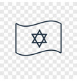 israel flag concept linear icon isolated on vector image