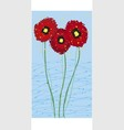 long card poppies vector image vector image