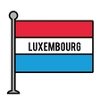 luxembourg patriotic flag isolated icon vector image