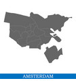 map is a city netherlands vector image