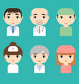 medical staff professional doctors and nurses vector image vector image