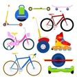 Modern City Transportation Set with Bikes vector image vector image