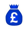 money bag icon pound icon vector image vector image