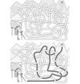 mountaineer maze vector image vector image