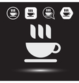 Mug of tea icon Morning coffee logo vector image vector image