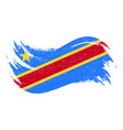 national flag of democratic republic of the congo vector image