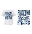 nautical t-shirt print ocean crab vector image vector image