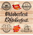 Oktoberfest labels vector image vector image