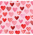 paper heart seamless background vector image vector image
