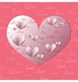 Paper Heart Shapes vector image vector image