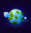 planet like earth fantasy universe or cosmos vector image vector image