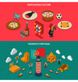 Portugal Isometric Banners Set vector image vector image
