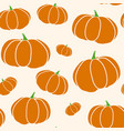 pumpkin seamless texture in trendy autumn colors vector image