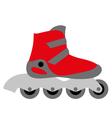 red inline roller skate vector image vector image
