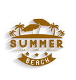 Retro summer holidays labels and signs desi vector image vector image