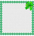 saint patricks day elegant border with shamrocks vector image vector image